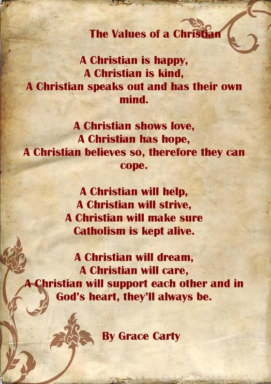 The Values of a Christian - Grace Carty